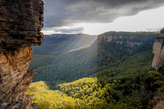 blue mountains valley view